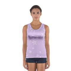Star Lavender Purple Space Women s Sport Tank Top  by Alisyart