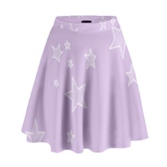 Star Lavender Purple Space High Waist Skirt by Alisyart