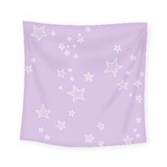 Star Lavender Purple Space Square Tapestry (small)