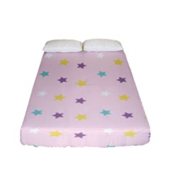Star Rainbow Coror Purple Gold White Blue Fitted Sheet (full/ Double Size) by Alisyart