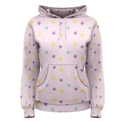 Star Rainbow Coror Purple Gold White Blue Women s Pullover Hoodie