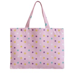 Star Rainbow Coror Purple Gold White Blue Zipper Mini Tote Bag by Alisyart
