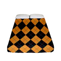 Plaid Triangle Line Wave Chevron Yellow Red Blue Orange Black Beauty Argyle Fitted Sheet (full/ Double Size) by Alisyart