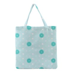 Star White Fan Blue Grocery Tote Bag by Alisyart