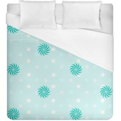 Star White Fan Blue Duvet Cover (king Size)