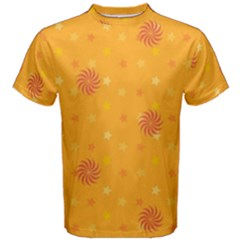 Star White Fan Orange Gold Men s Cotton Tee