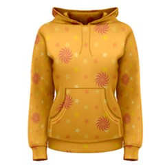 Star White Fan Orange Gold Women s Pullover Hoodie