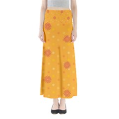 Star White Fan Orange Gold Maxi Skirts by Alisyart