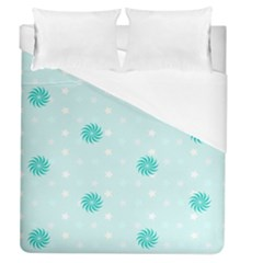 Star White Fan Blue Duvet Cover (queen Size)