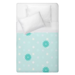 Star White Fan Blue Duvet Cover (single Size)