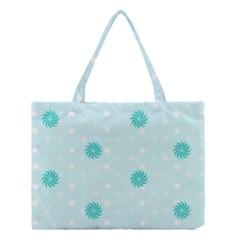 Star White Fan Blue Medium Tote Bag