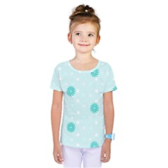 Star White Fan Blue Kids  One Piece Tee