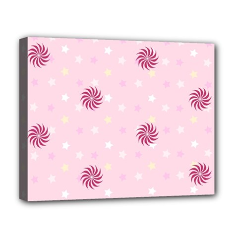 Star White Fan Pink Deluxe Canvas 20  X 16