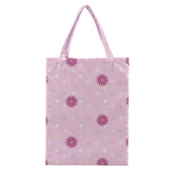 Star White Fan Pink Classic Tote Bag