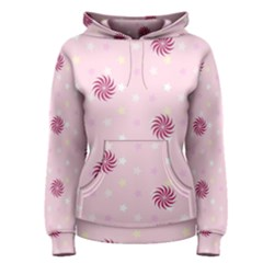 Star White Fan Pink Women s Pullover Hoodie