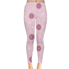 Star White Fan Pink Classic Winter Leggings