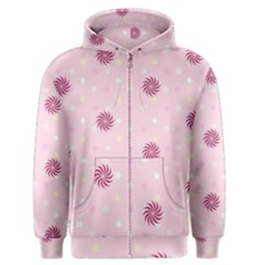 Star White Fan Pink Men s Zipper Hoodie