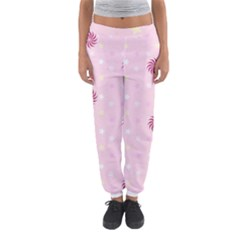 Star White Fan Pink Women s Jogger Sweatpants