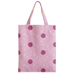 Star White Fan Pink Zipper Classic Tote Bag