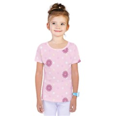 Star White Fan Pink Kids  One Piece Tee