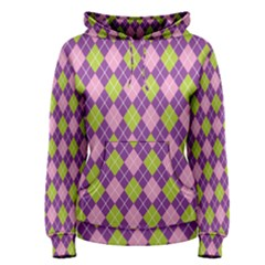 Plaid Triangle Line Wave Chevron Green Purple Grey Beauty Argyle Women s Pullover Hoodie