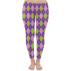 Plaid Triangle Line Wave Chevron Green Purple Grey Beauty Argyle Classic Winter Leggings