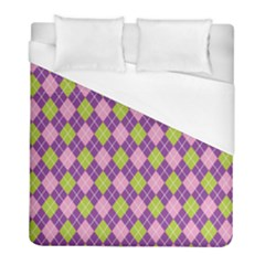 Plaid Triangle Line Wave Chevron Green Purple Grey Beauty Argyle Duvet Cover (full/ Double Size)