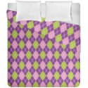 Plaid Triangle Line Wave Chevron Green Purple Grey Beauty Argyle Duvet Cover Double Side (California King Size) View1