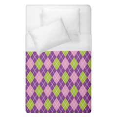 Plaid Triangle Line Wave Chevron Green Purple Grey Beauty Argyle Duvet Cover (single Size)