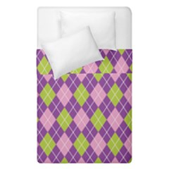 Plaid Triangle Line Wave Chevron Green Purple Grey Beauty Argyle Duvet Cover Double Side (single Size)