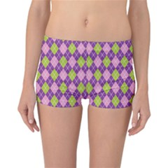 Plaid Triangle Line Wave Chevron Green Purple Grey Beauty Argyle Reversible Bikini Bottoms