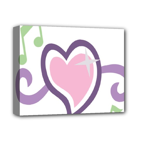 Sweetie Belle s Love Heart Star Music Note Green Pink Purple Deluxe Canvas 14  X 11