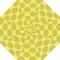 Sunflower Floral Yellow Blue Circle Golf Umbrellas by Alisyart