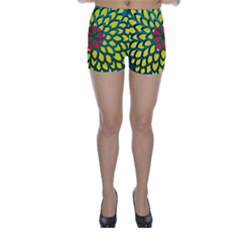 Sunflower Flower Floral Pink Yellow Green Skinny Shorts