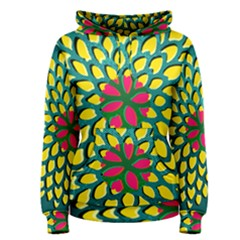 Sunflower Flower Floral Pink Yellow Green Women s Pullover Hoodie
