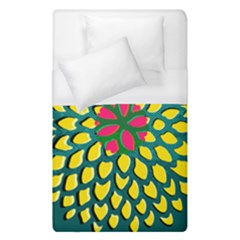 Sunflower Flower Floral Pink Yellow Green Duvet Cover (single Size) by Alisyart