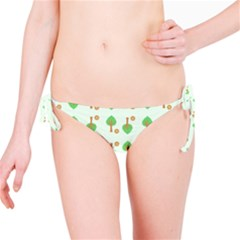 Tree Circle Green Yellow Grey Bikini Bottom by Alisyart