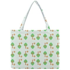 Tree Circle Green Yellow Grey Mini Tote Bag