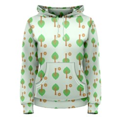 Tree Circle Green Yellow Grey Women s Pullover Hoodie