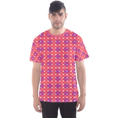 Roll Circle Plaid Triangle Red Pink White Wave Chevron Men s Sport Mesh Tee