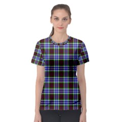 Tartan Fabrik Plaid Color Rainbow Triangle Women s Sport Mesh Tee