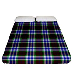 Tartan Fabrik Plaid Color Rainbow Triangle Fitted Sheet (queen Size) by Alisyart