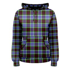 Tartan Fabrik Plaid Color Rainbow Triangle Women s Pullover Hoodie