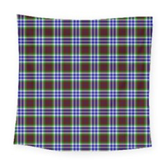 Tartan Fabrik Plaid Color Rainbow Triangle Square Tapestry (large)