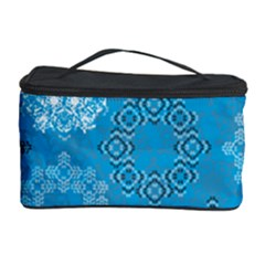 Flower Star Blue Sky Plaid White Froz Snow Cosmetic Storage Case by Alisyart