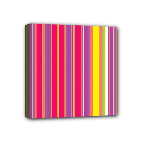 Stripes Colorful Background Mini Canvas 4  X 4  by Simbadda