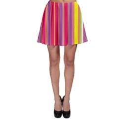 Stripes Colorful Background Skater Skirt by Simbadda