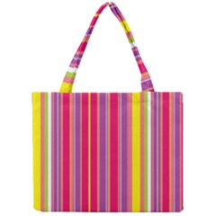 Stripes Colorful Background Mini Tote Bag by Simbadda