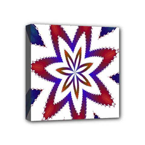 Fractal Flower Mini Canvas 4  X 4  by Simbadda