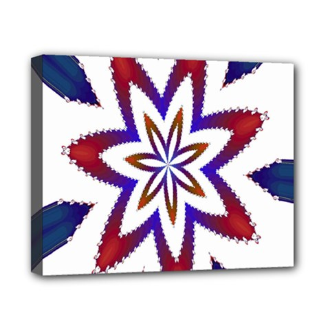 Fractal Flower Canvas 10  X 8  by Simbadda